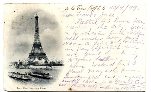 Eiffel Tower 1899 Postcard - Flickr 12034854663